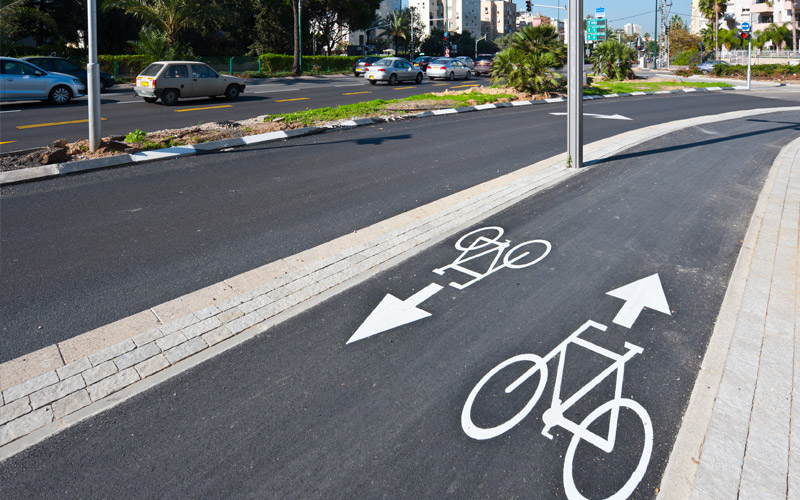 Will las new bike lane lights improve traffic safety?