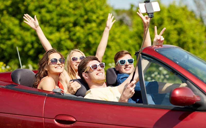 California #1 in instagram distracted driving selfies